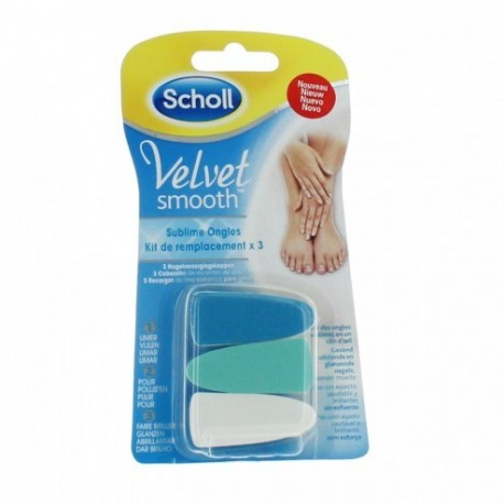 SCHOLL VELVET SMOOTH SUBLIME ONGLES RECHARGE X3