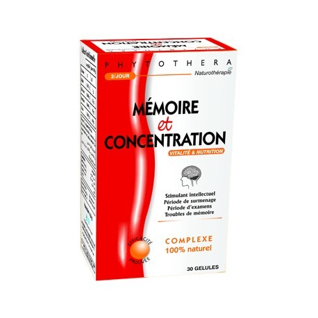 Phytothera MEMOIRE & CONCENTRATION 30 GELLULES