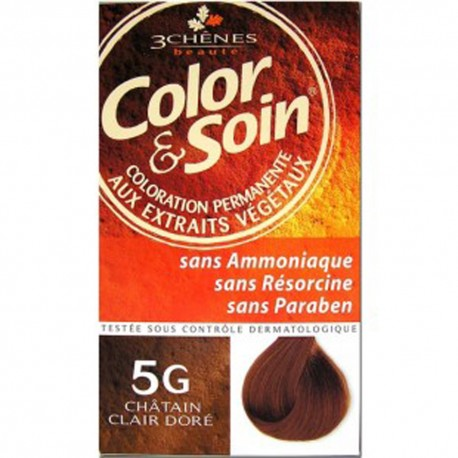 COLORATION CHATAIN CLAIR DORE