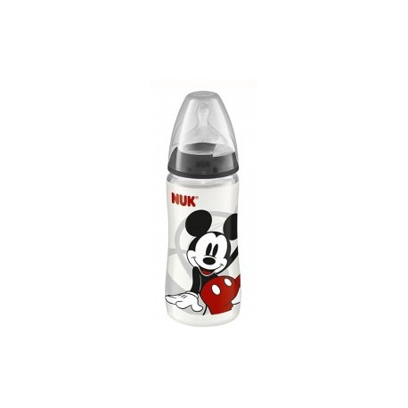 BIBERONS INCASSABLES MICKEY AVEC TÉTINE SILICONE TAILLE 1 (0-6 MOIS) - 300ML