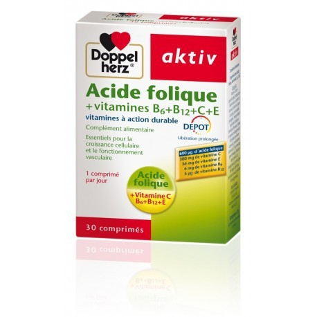 AKTIV ACIDE FOLIQUE VITAMINES B+C+E - 30 Comprimés