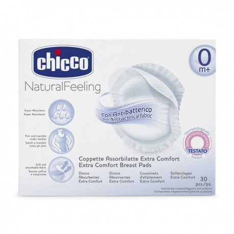 CHICCO COUSSINETS ANTI BACTERIEN ABSORBA 30 PCS