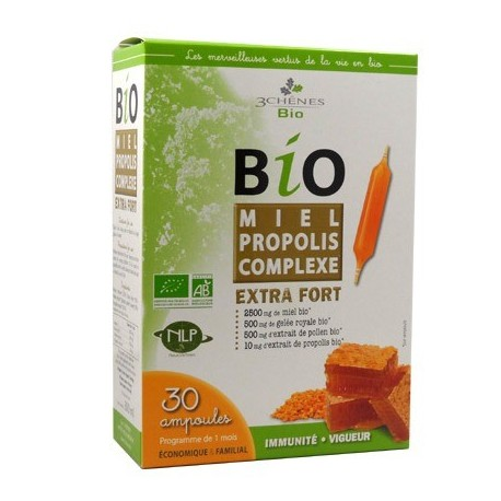 MIEL PROPOLIS COMPLEXE EXTRA FORT - 30 AMPOULES